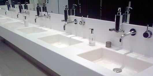 Attirant Corian Trough Sink