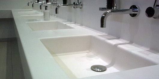 Shire Integrated Systems Commercial Washroom Installations - Commercial bathroom vanity units