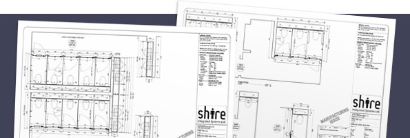 Schematic for a Shire washroom installation