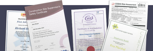Shire related certificates